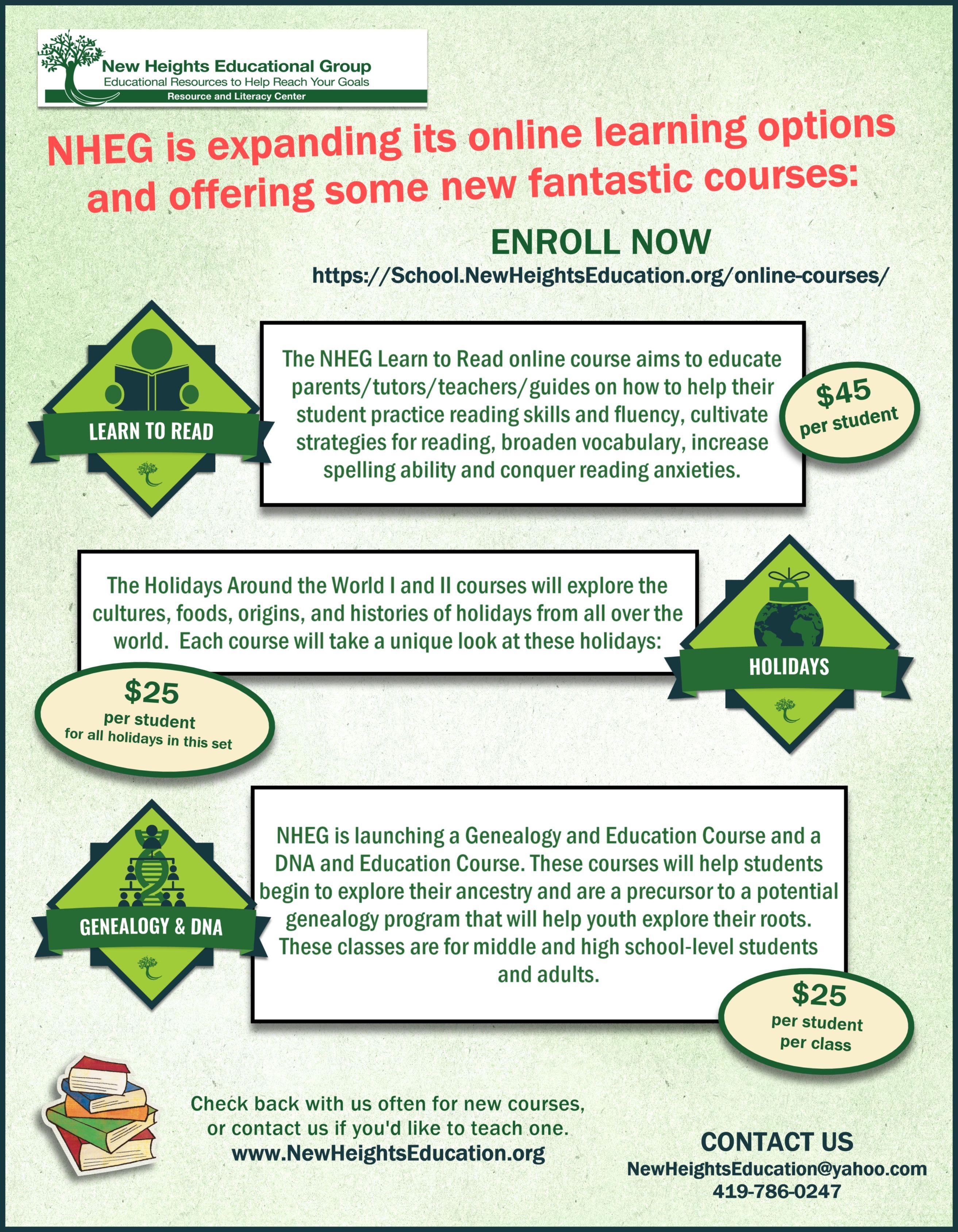Nheg Online Courses