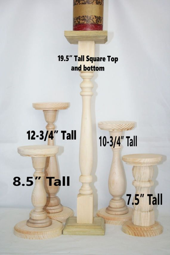 Extra Tall Unfinished Wood Pillar Candlestick Holders Diy Candlesticks Wooden Pillars