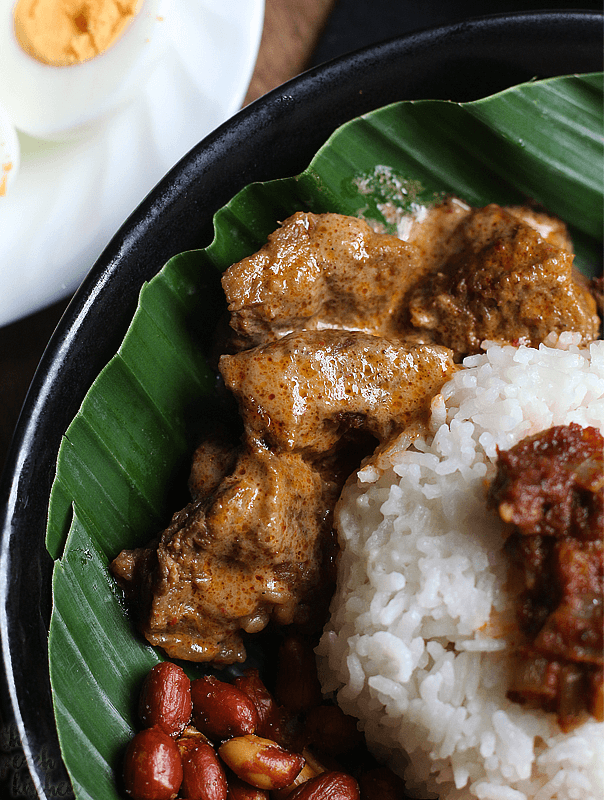 Nasi lemak with beef rendang foodcooking international dishes easy forumfinder Choice Image