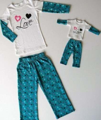 494903687e pijama para niñas con pijama para la muñeca