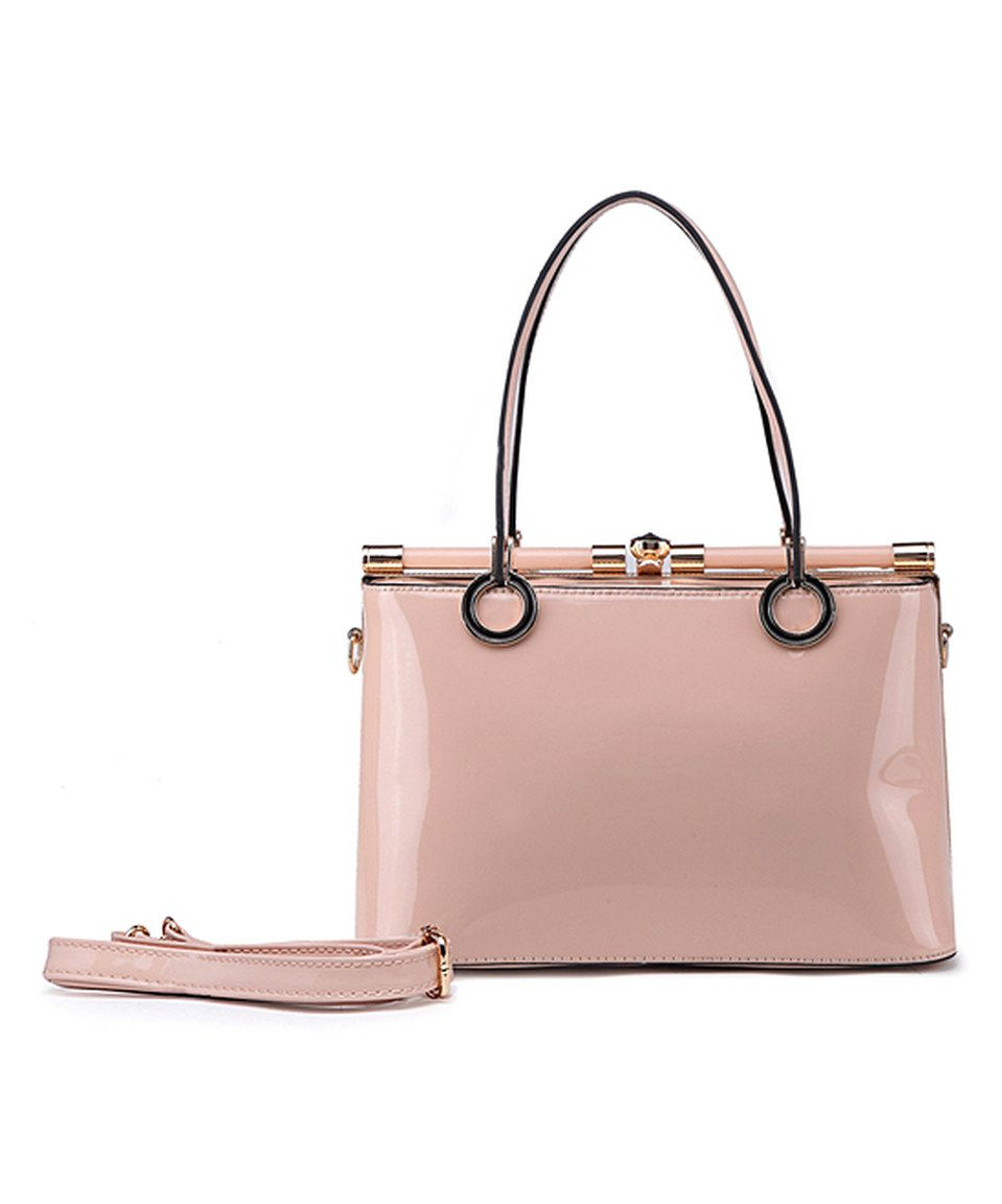 Another great find on #zulily! MKF Collection Blush Patent Dome Satchel by MKF Collection #zulilyfinds