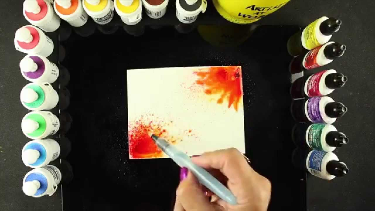 Painting images is definitely possible with the Brusho and Colorburst powders....watch to see a few ideas on how! Blog post with links: http://salln.net/GSwc...