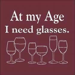 Many, many glasses...