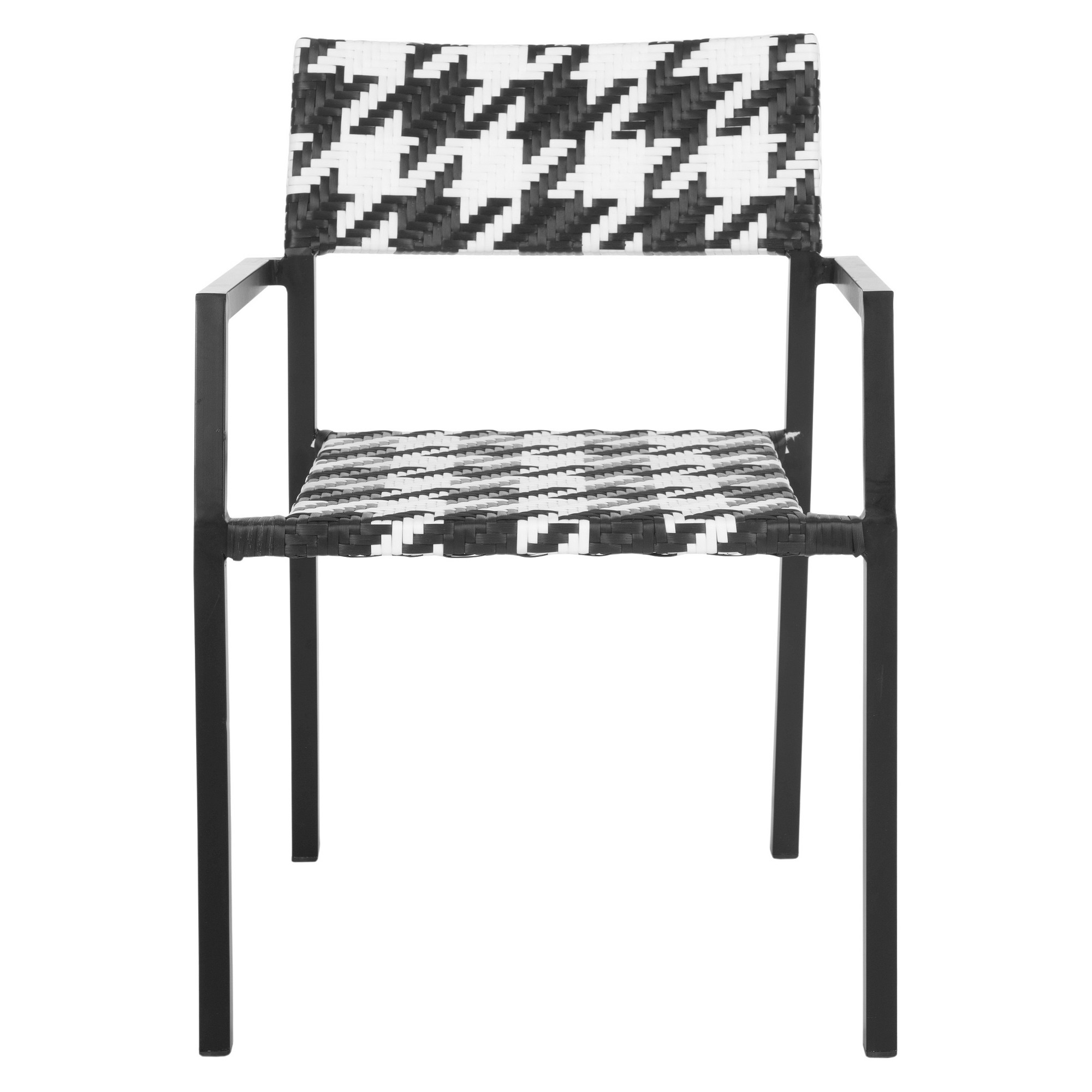 Sardina 2pk Wicker Patio Chair Set Black White Safavieh In 2019 Wicker Patio Chairs Patio Chairs Patio Furniture Sets