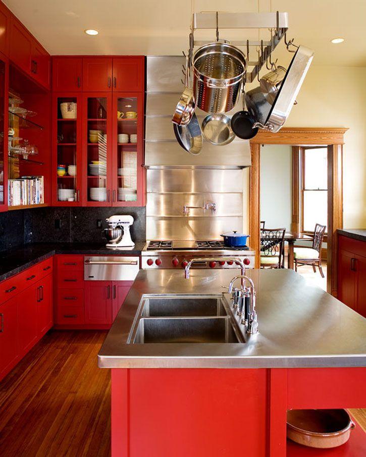 20 combinaciones de color para cocinas modernas for Colores para cocinas fotos