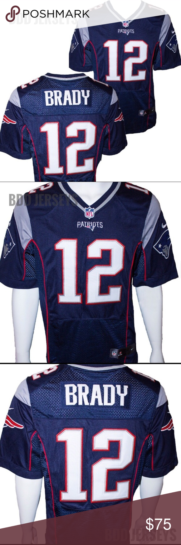 12f2d29ce As Is- New England Patriots Tom Brady New England Patriots Tom Brady  12  blue On Field Nike jersey Size Medium. Brand new with tags attached.