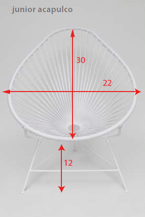 Innit Designs Baby Acapulco Chair With White Frame | Domino