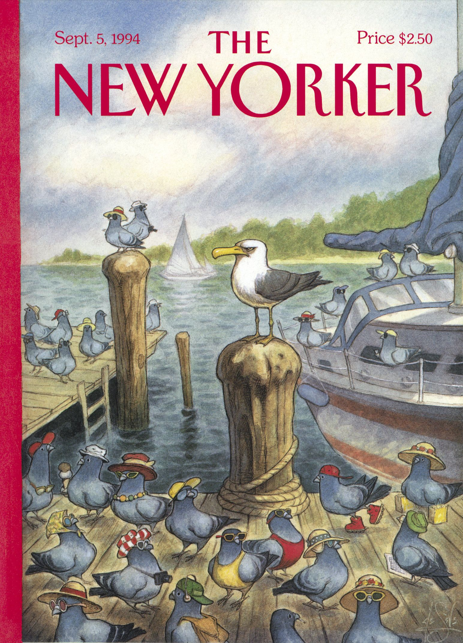 """The New Yorker - Monday, September 5, 1994 - Issue # 3624 - Vol. 70 - N° 26 - Cover """"Labor Day"""" by Peter de Sève"""