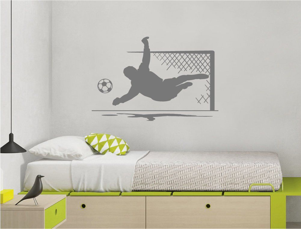 Goalkeeper wall sticker, Goalkeeper wall decal, football ...
