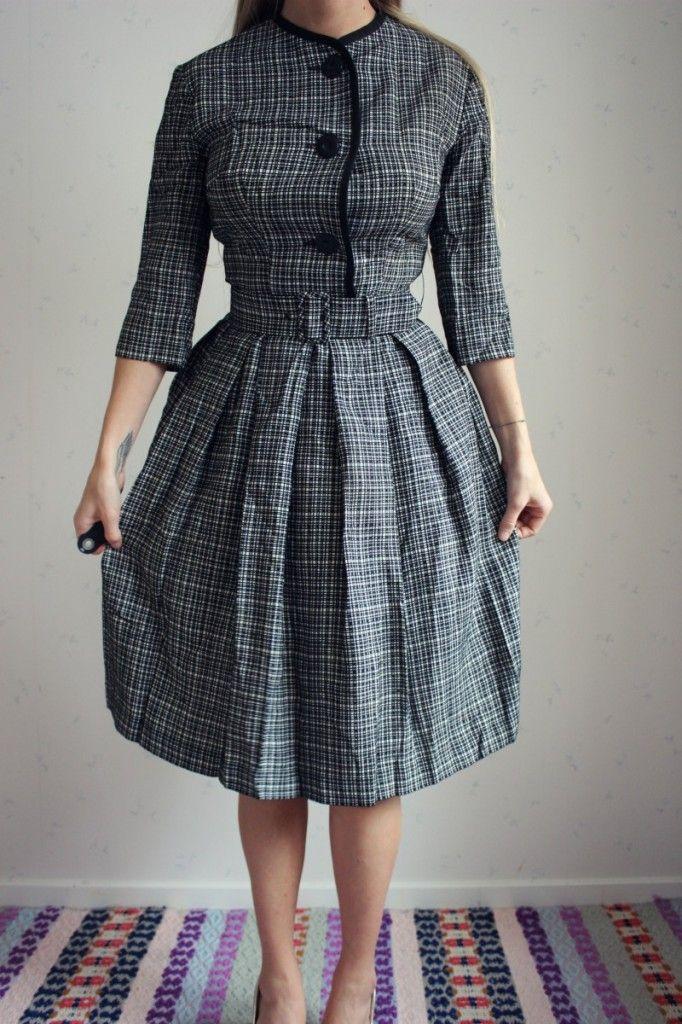 9eda75154ae1 vintage klänning retro dress 50 60 70 tal valerius hansson kunglig  hovleverantör