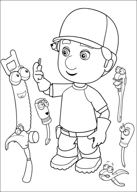 Handy Manny Tegninger til Farvelægning. Printbare Farvelægning for ...
