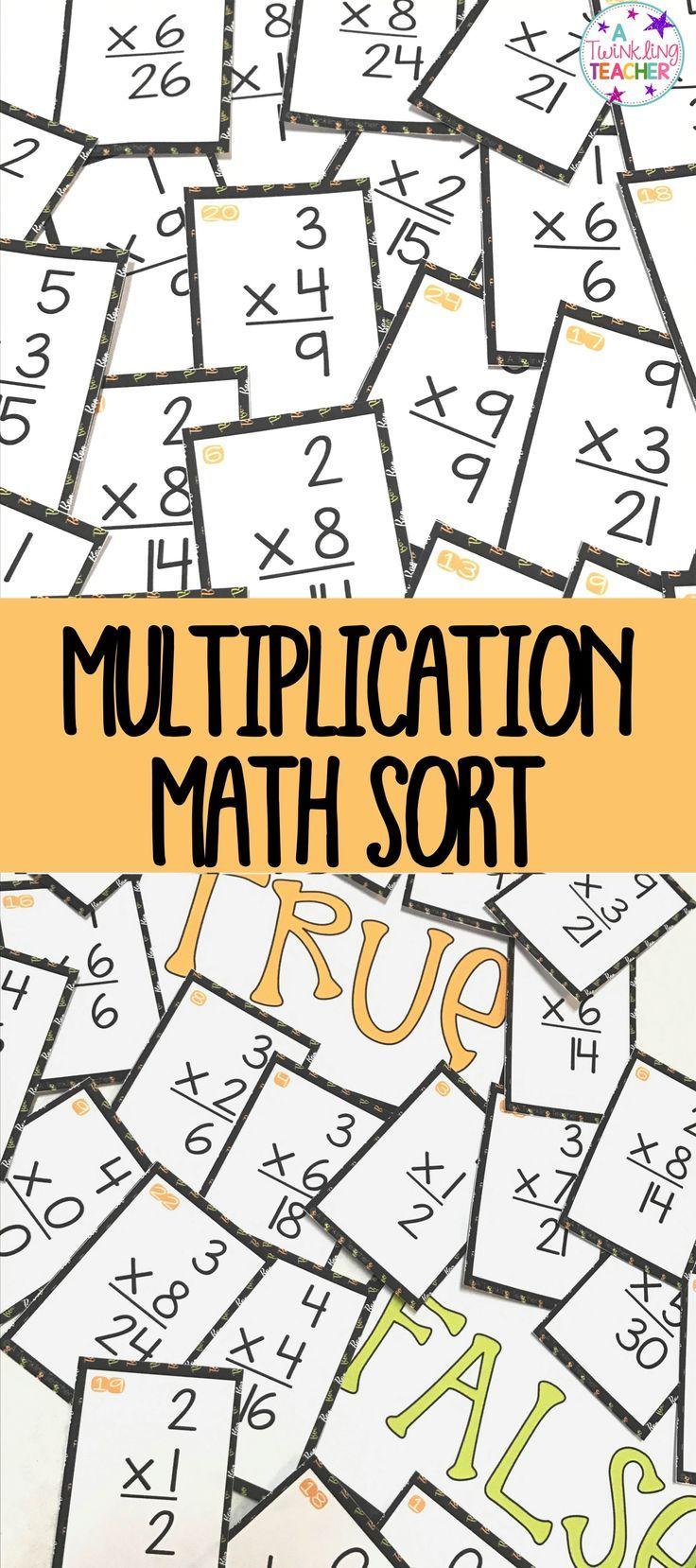 Halloween multiplication math center sort | Multiplication facts ...