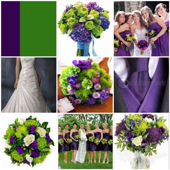 Green And Purple Wedding Centerpieces Purple And Green