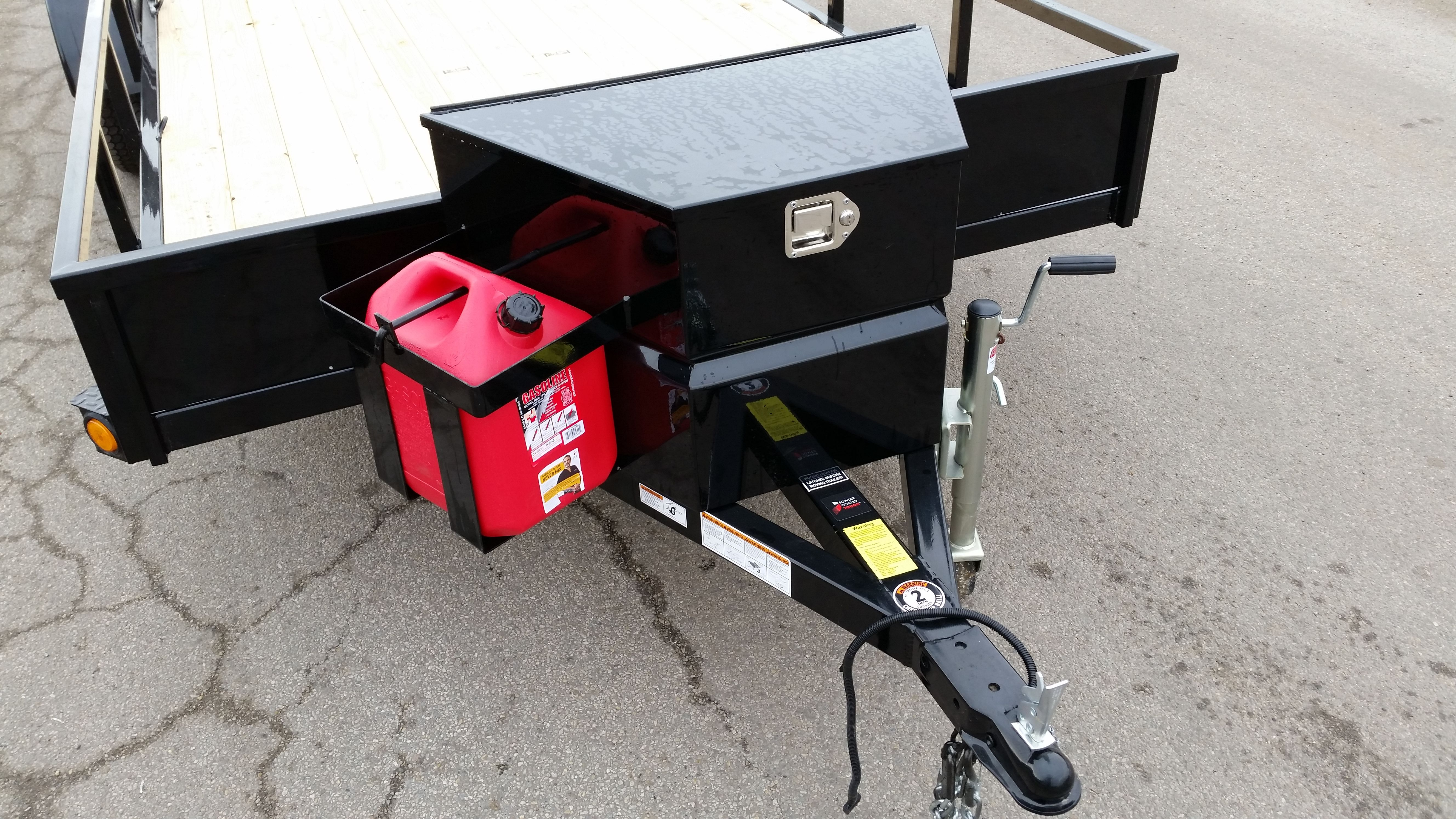 echo trailers extra large tongue box and five gallon gas can rack compatible with all echo advantage ultimate atv campingbus verkaufsanhanger fahrrad ideen