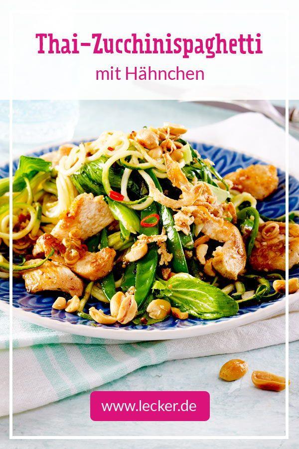 Thai-Zucchinispaghetti mit Hähnchen Rezept   LECKER