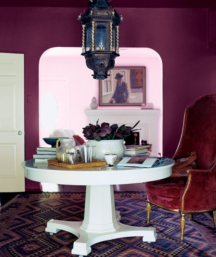 Office paint color ideas on domino com living room zephyr study delicious berry