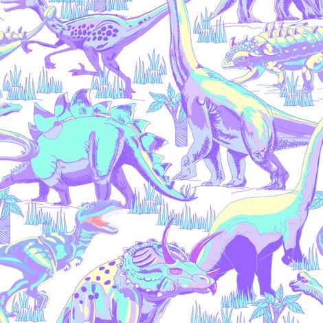 Pastel Dinosaurs. by art_on_fabric Cute cartoon