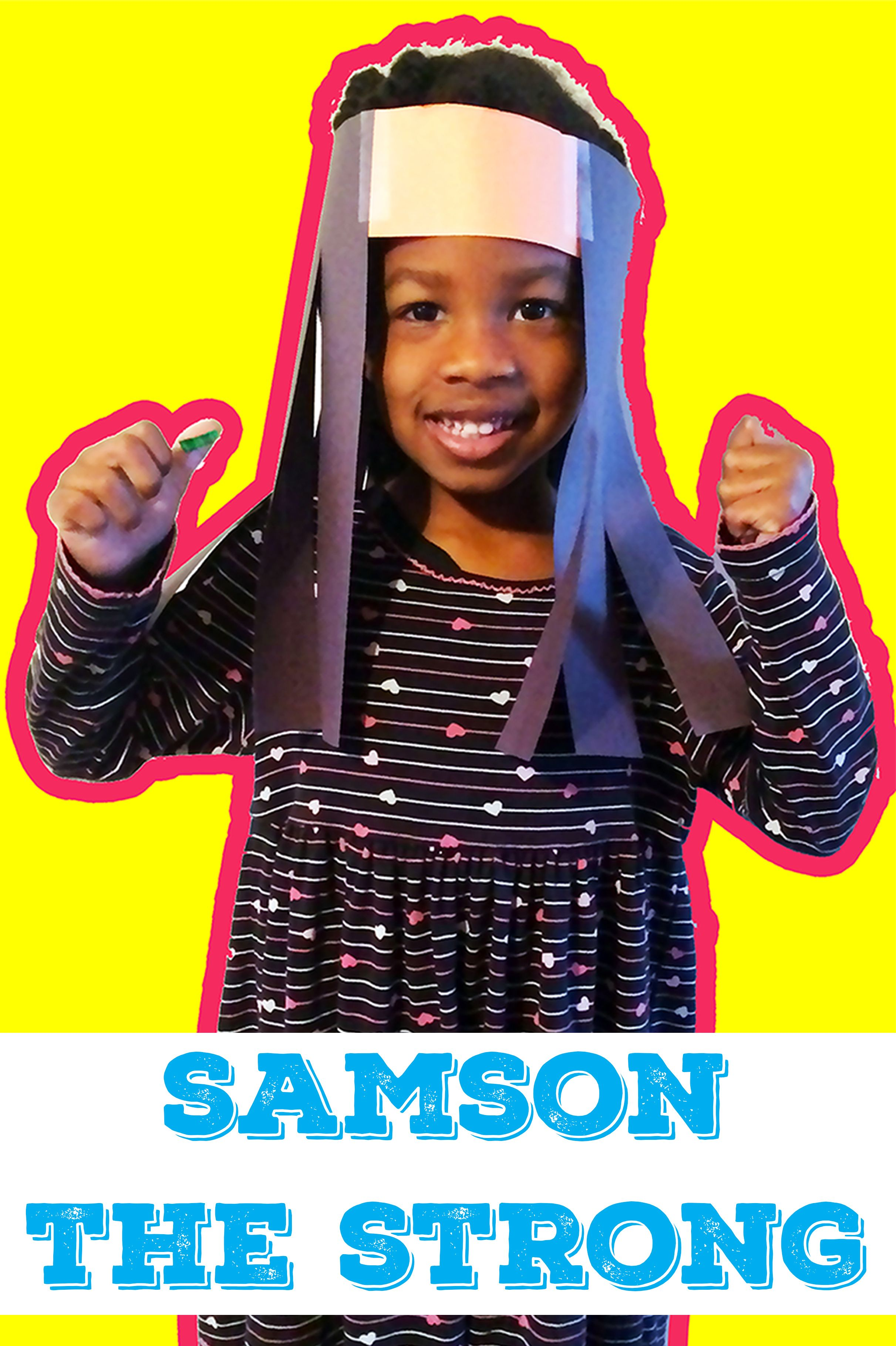 Samson Long Hair Craft | Bible Activities | Kids Scissor Practice ...