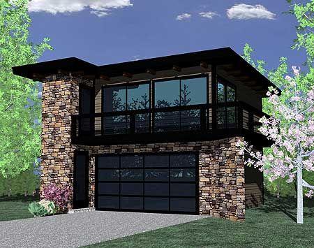 Plan 85022ms Contemporary Garage Studio Garage Lake Home Modern House Plans House Plans