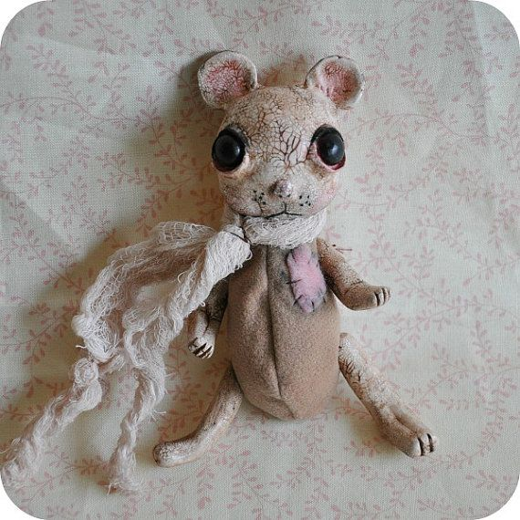 Art Doll MARK Animal Mouse Primitive Shabby Chic by OddlySweet