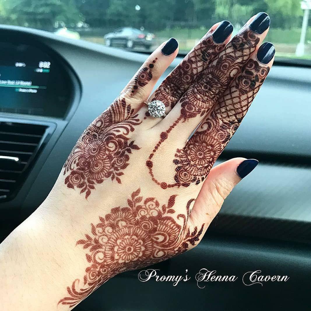 """Dimple on Instagram: """"Swipe for more henna stains.😍 Which one 1-10? // by @promyshennacavern #henna #hennadesign #handshenna #fingershenna #hennaart…"""""""