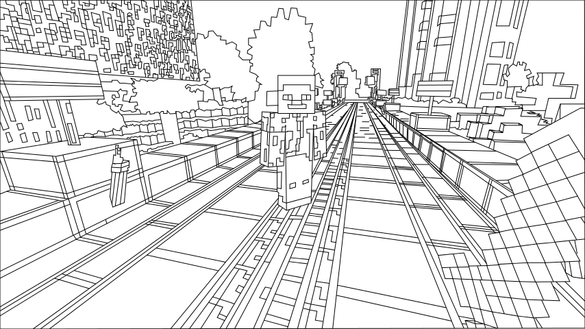 printable minecraft city coloring pages minecraft