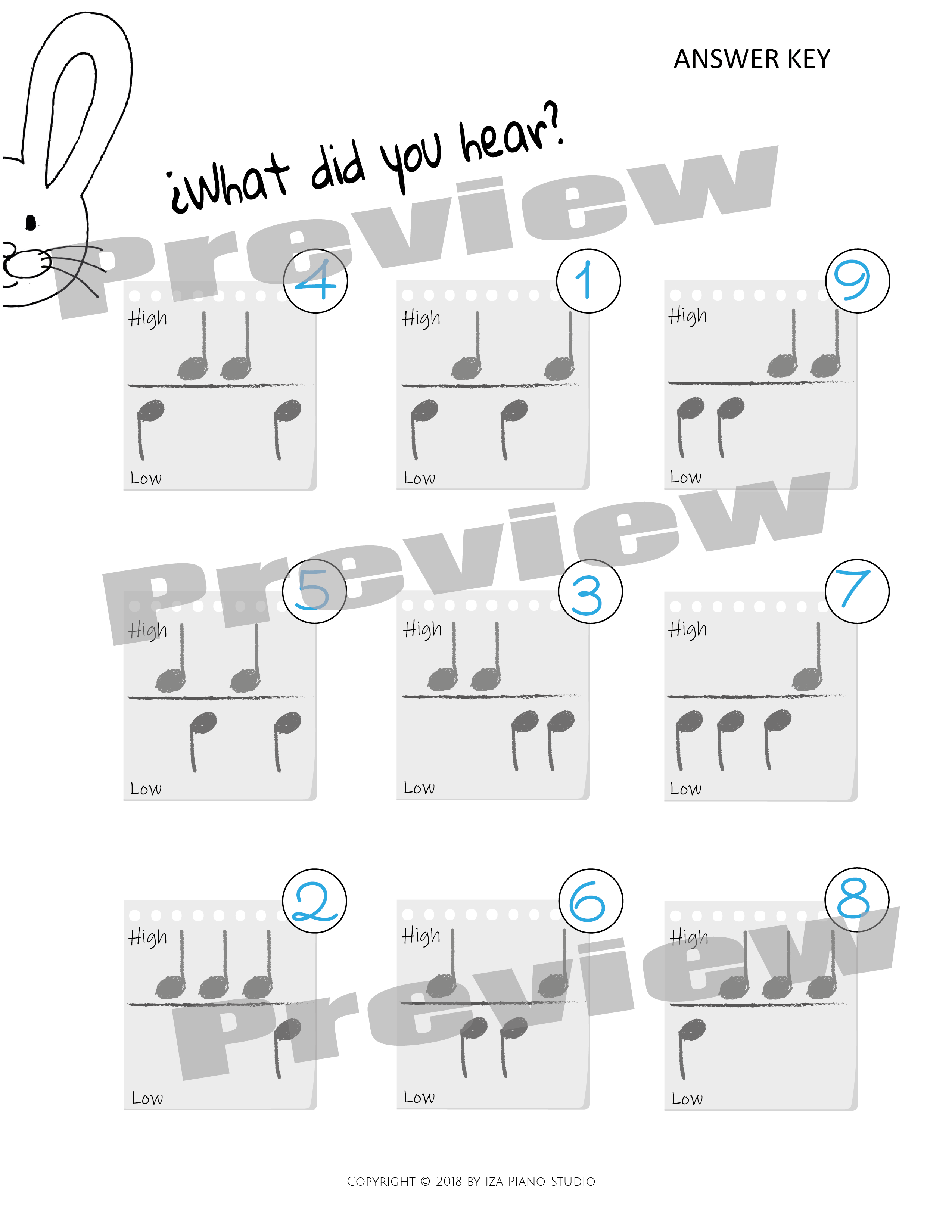 High And Low Music Worksheets