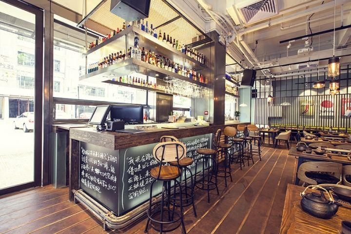 珠海厂房改造的900°工业风烧烤餐厅室 设计圈 展示 设计时代网-Powered by thinkdo3