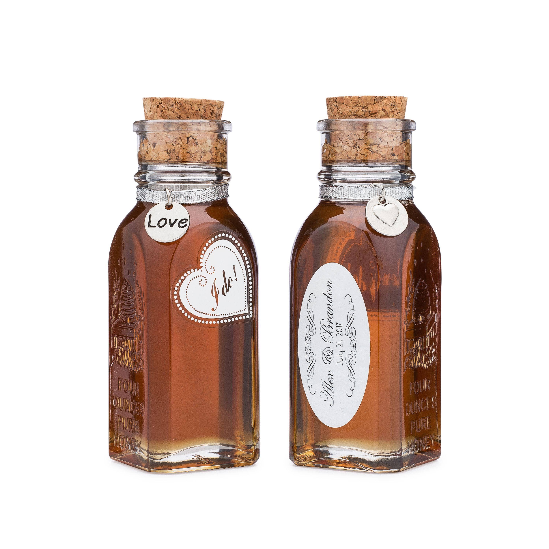 Honey Wedding Favors; Pure Raw Organic Honey 4 oz bottle; Custom ...