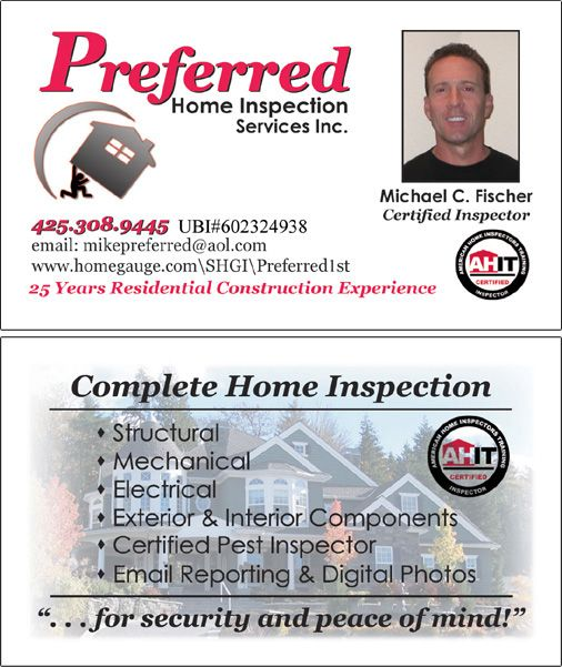 Home inspection business card templates best business cards for Home inspection business cards