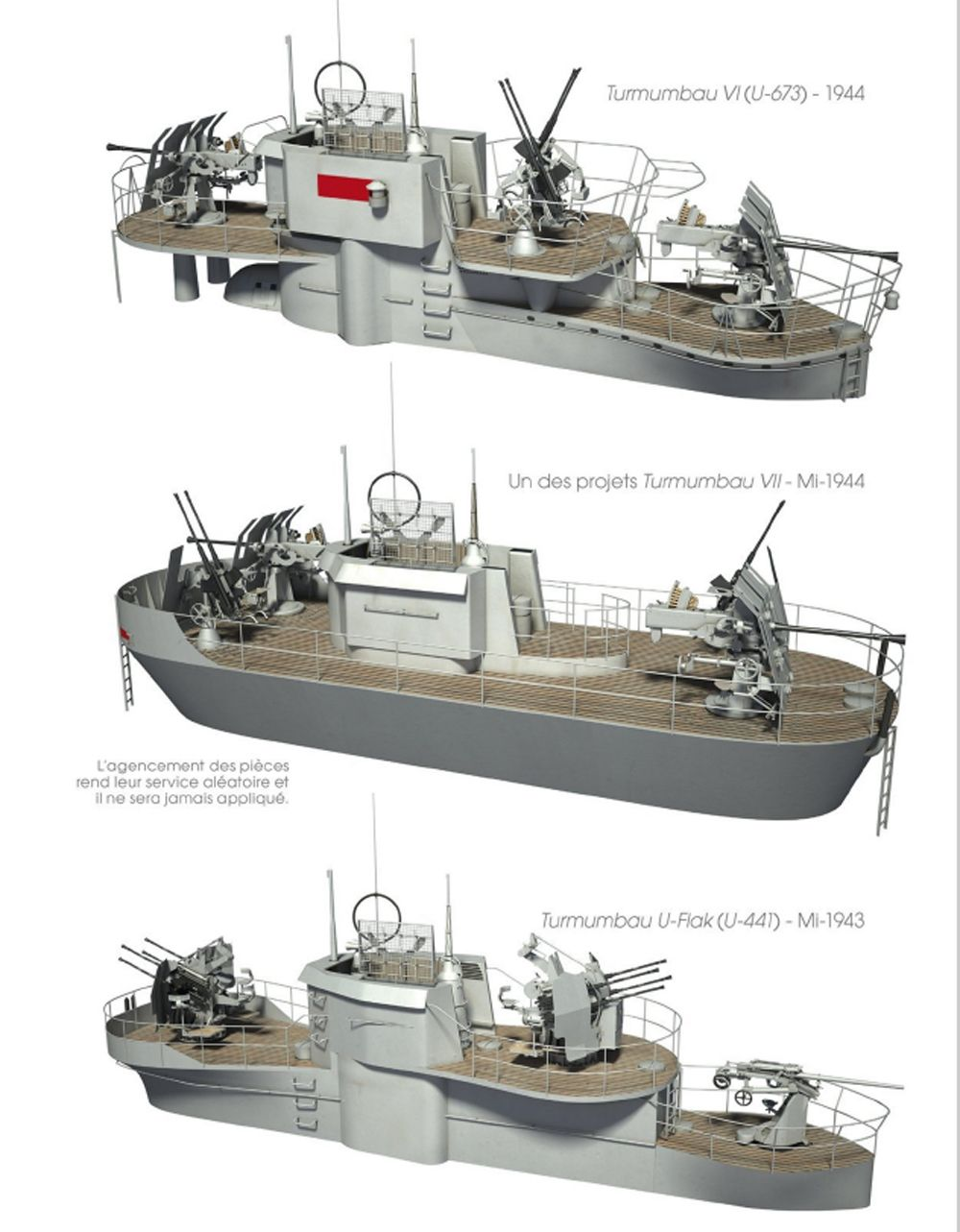 hight resolution of german u boat types by conning bridge tower design
