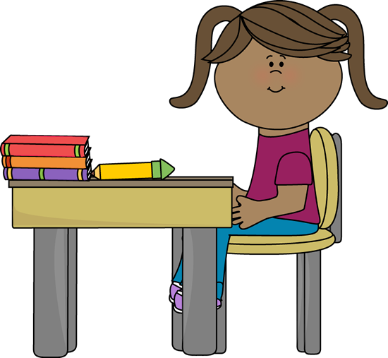 school girl sitting at a desk clip art school pinterest clip rh pinterest com