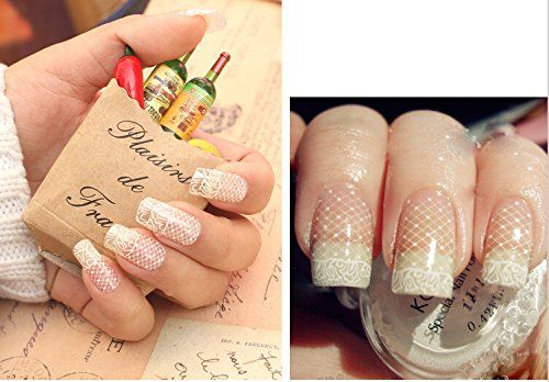 3D Nail Art Fashion Lace Flowers Stickers Nail DIY Decals on Nail Any 1pcs,Ship as random 6No. *** Click on the image for additional details.