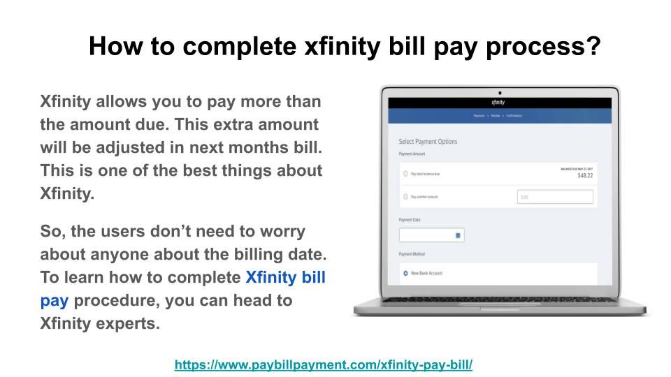 Xfinity Bill Pay Comcast Bill Payment Paying Bills Bills Wireless Internet Service