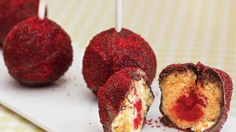 Chocolate Covered Cherry Pops Recipe Chocolate covered