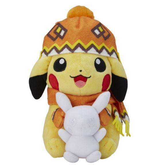 Pokemon Center Original Pikachu Plush Doll Winter Fes Japan