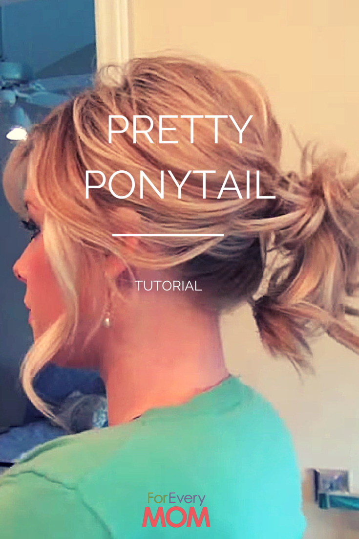 This pretty ponytail hairstyle tutorial just shook off my