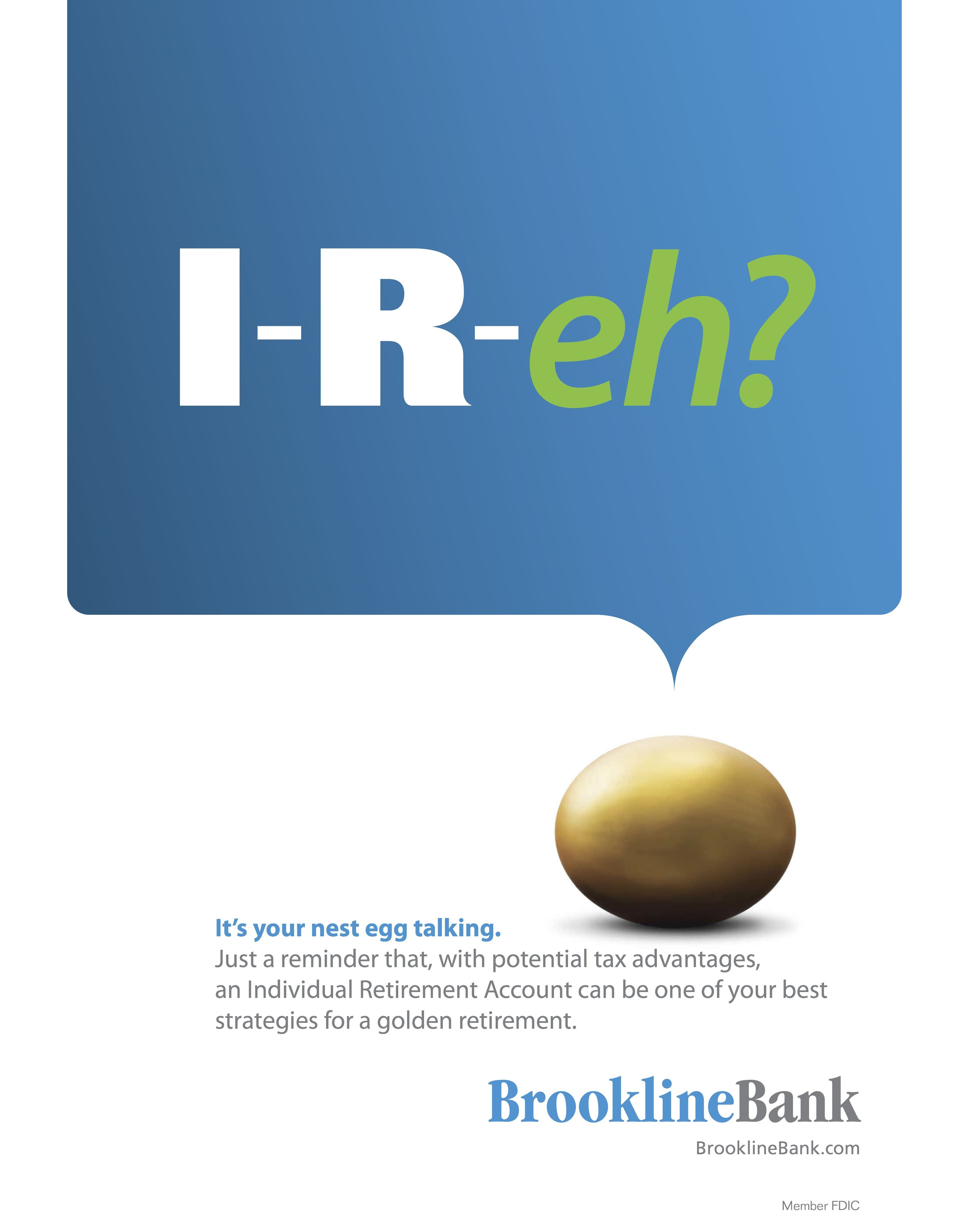 IRA poster for Boston bank client.