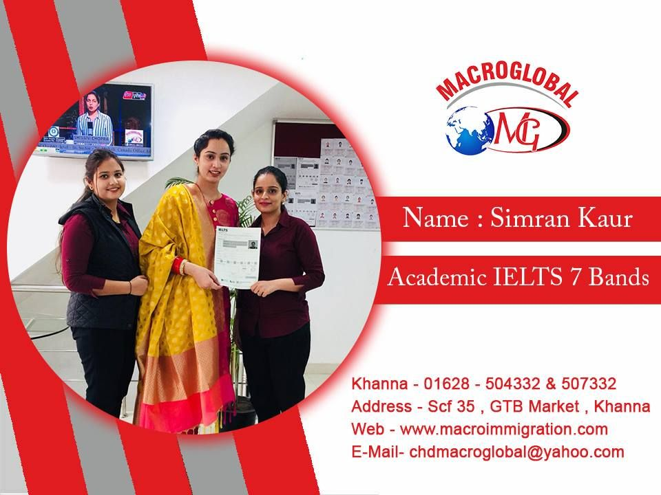 Congratulations to Simran Kaur for achieving 7 IELTS band