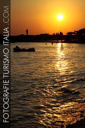 fotografie, turismo, italia, mare, tramonto, spiaggia, pescatore,