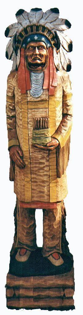 Folk art cigar store indian