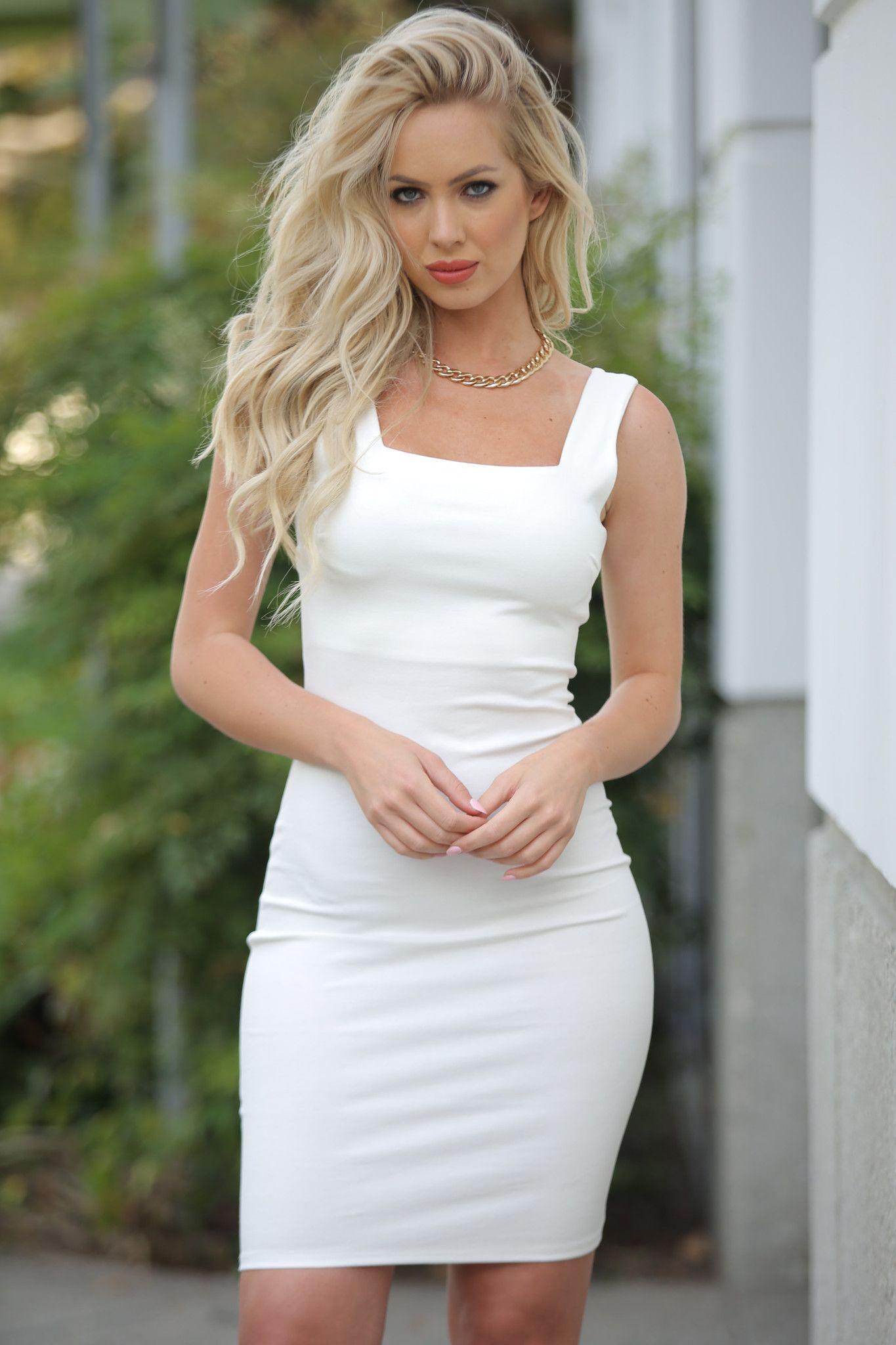 Sally White Sleeveless Dress