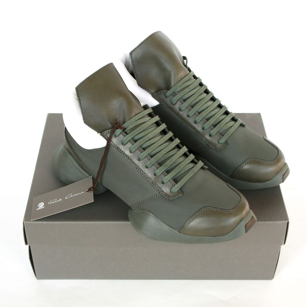 56e5cab26 RICK OWENS x ADIDAS army earth green ro runner trainers sneakers shoes 7-us  NEW  RickOwens  FashionSneakers