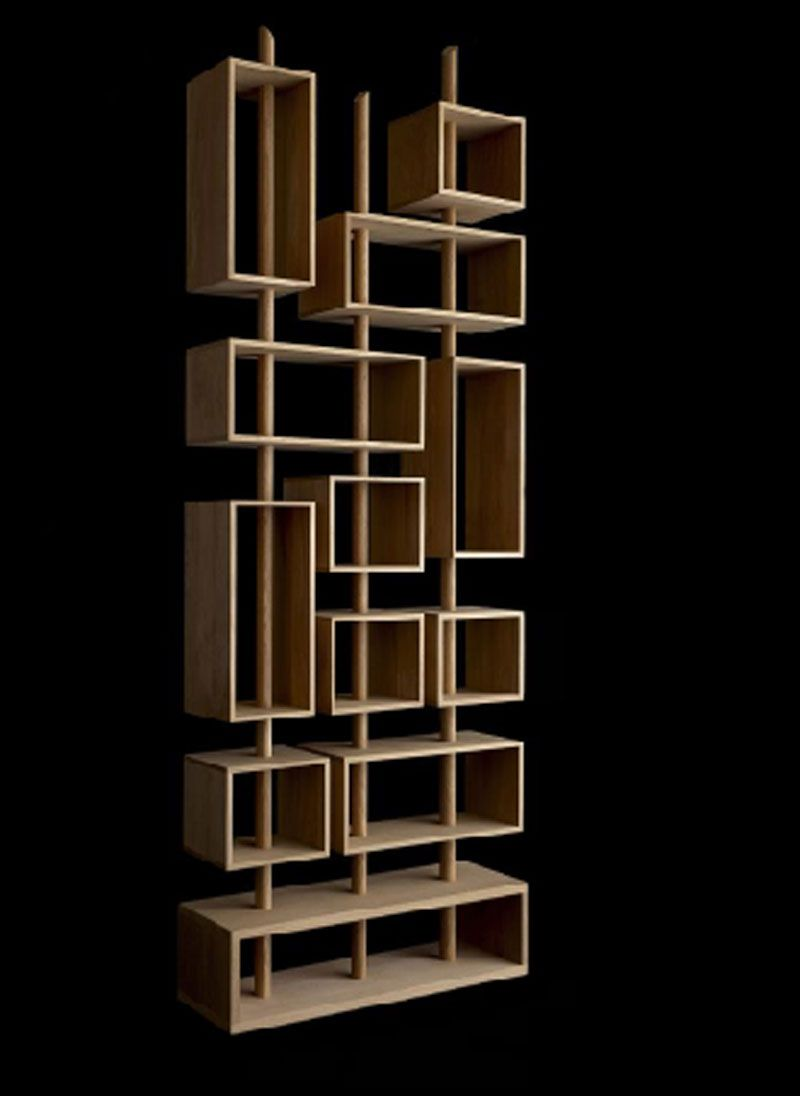 Unique and Creative Contemporary Kao Shelving for Home Accessories by Drugeot Labo