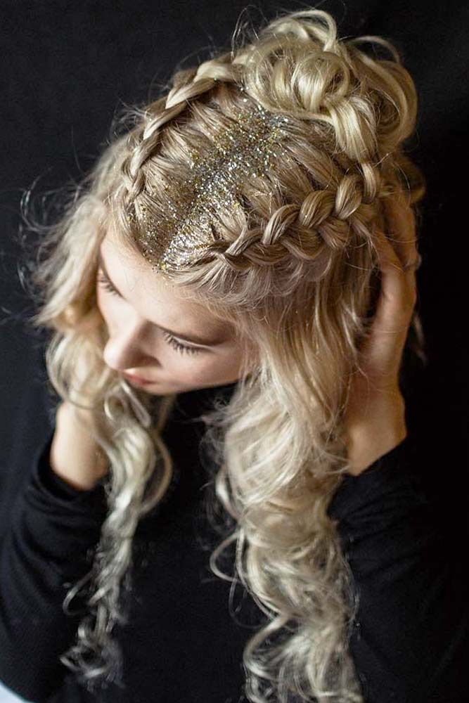 15 Chic Hairstyle Ideas For A Party Lovehairstyles Com Hair Styles Party Hairstyles Glitter Roots Hair