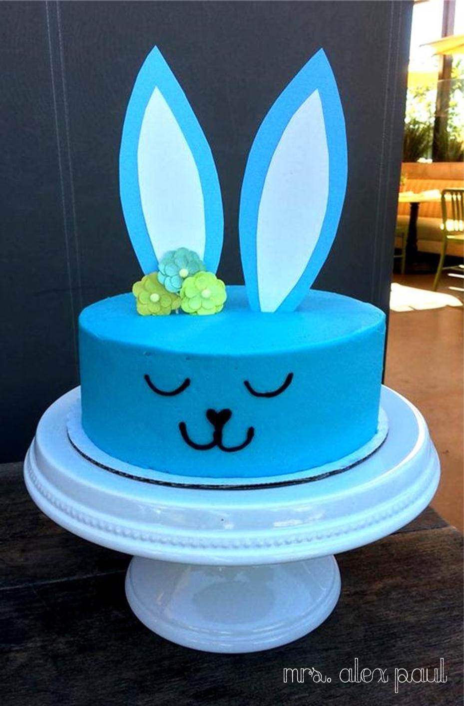 Blue bunny cake babyshower babyboy birthday Mrs Alex Paul