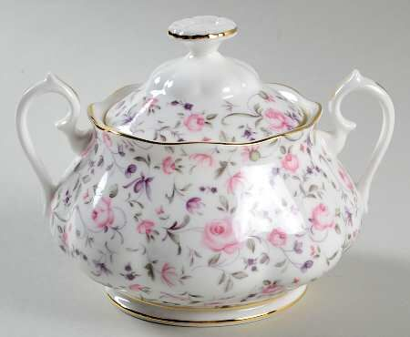 Royal Albert Rose Confetti Sugar Bowl & Lid
