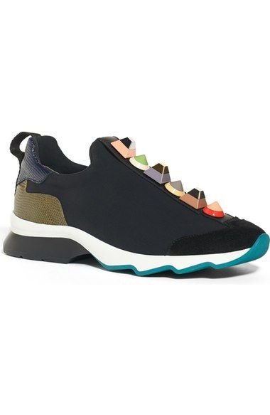 Fendi Rainbow Studded Sneaker (women