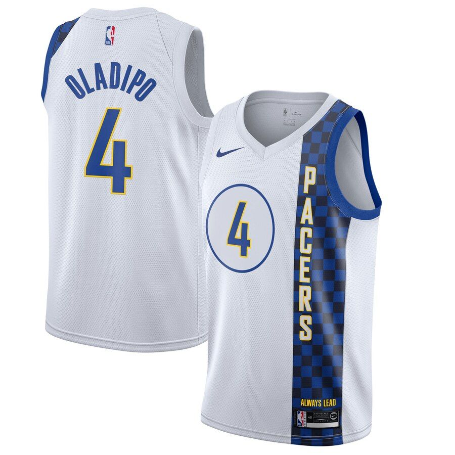 Men S Indiana Pacers Victor Oladipo Nike White 2019 20 Finished City Edition Swingman Jersey Victor Oladipo Indiana Pacers White Nikes