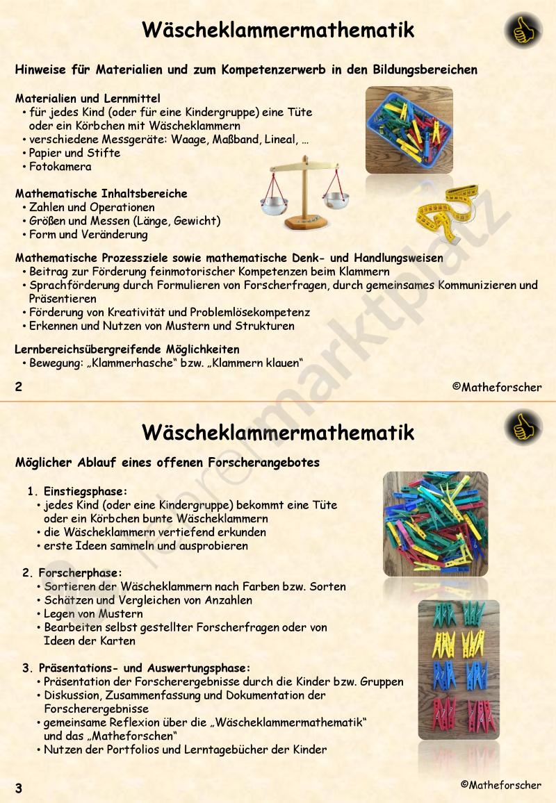 Wäscheklammermathematik in der Kita – Kita, Mathematik | mate ...